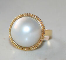 Pearl Yellow Cocktail Fine Rings
