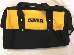 "New Dewalt Heavy Duty Ballistic Nylon Tool Bag 15"" w Runners & 3 outside Pockets"