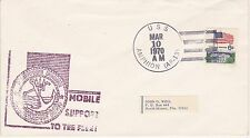 USS AMPHION AR-13 MOBILE SUPPORT MAR 10, 1970 NAVAL SHIP EVENT COVER