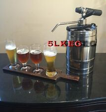 5L Mini Party Keg Draft Beer Dispenser Portable Home Brew Bar Dispensing Tap SYS