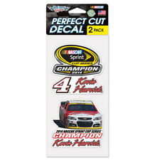 """Nascar Sprint Cup Champion Kevin Harvick Set Of Two 4""""x4"""" Perfect Cut Decals"""