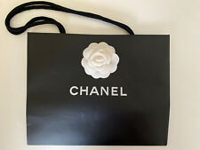 Chanel Shopping Gift Bag With White Flower