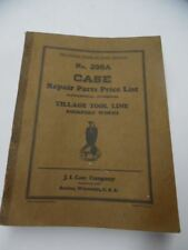 1930 J.I. Case Rockford Works Tillage Tool Line Repair Parts List Catalog 289A
