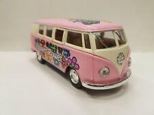 vw Volkswagen Classical Bus 1962 pink kinsmart TOY model 1/32 diecast Car new