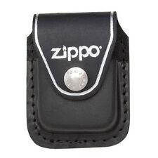 Zippo lpcbk black leather lighter pouch clip
