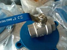 "1 PCS DN80 3"" Female Medium Body 2Piece 304 Stainless Steel Straight Ball Valve"