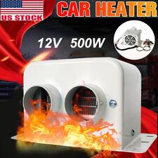 500W 12V Car Portable Heater Fan Heated Window Demister Defroster Heating Warmer