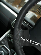 FOR PEUGEOT BOXER 2005+ TRUE LEATHER STEERING WHEEL COVER BLACK DOUBLE STITCHING