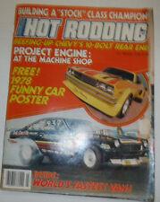 Popular Hot Rodding Magazine Project Engine March 1978 NO ML 122314R