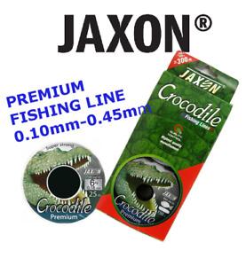 PREMIUM Fishing Line Jaxon Crocodile 2x150m connected spools  Zander Perch Pike