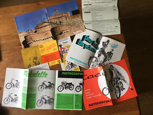Lot de (6) Documentations « Motoconfort-Velosolex-Cady-Mini-Giulietta» 1960-70