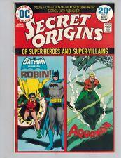 Secret Origins 7 Robin and Aquaman! Vf 1974