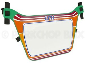 """Air-Uni old school BMX Number Plate from original 1980's molds - """"Uni 2"""" GREEN"""