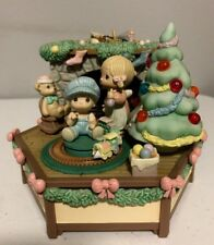 Enesco Precious Moments A Family Christmas Multi-Action/Lights Music Box
