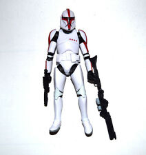 "Star Wars Republic Clone Trooper Captain Red White 6"" Loose Action Figure"
