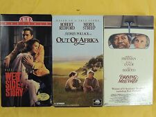 3 Best Picture Winner VHS: West Side Story, Out of Africa, Driving Miss Daisy,