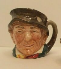 """Royal Doulton Paddy D5768 Small size character jug with """"A"""" on bottom"""