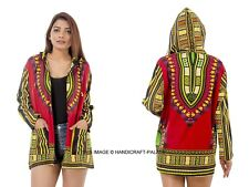 Dashiki Hoodie Jacket African Festival Hippie Poncho Mexican Shirt Men Women