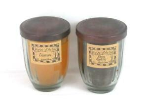 Lot of 2 Keepers Of Light By A Cheerful Giver Candles Green Apple Pie Cinnamon