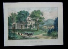 1872 Original Currier & Ives Print A New England Home of American Country View