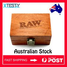 RAW Wooden Box Small Tobacco Cigarette Stash Box | FAST SHIPPING