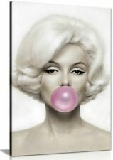 More details for marilyn monroe pink bubble gum canvas wall art picture print