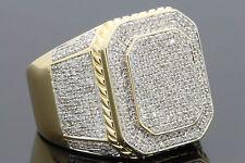 1.75 CARAT MENS YELLOW GOLD FINISH DIAMOND ENGAGEMENT WEDDING PINKY BAND RING