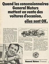 Publicité Advertising 1968  General Motors  Voitures d'occasion