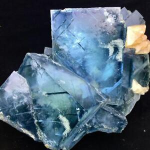 5180g Rare 12CM Larger Particles Fluorite & Ladder Yellow Calcite & Quartz/China
