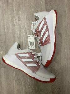 New Adidas CrazyFlight Volleyball Shoes Cloud White/Power Red Women's Size 10