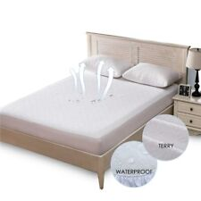 Terry Waterproof Mattress Cover Anti-mite Breathable Hypoallergenic Bed Protecti
