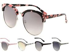 Wholesale 12 Pair Retro Fashion Half Frame Sunglasses with Flat Lens - Assorted