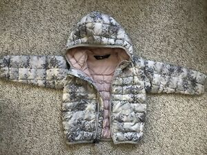 The North Face Thermoball Jacket Toddler Girl 2T Packable Toddler Hood Pink Gray