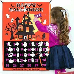 Halloween Advent Calendar Removable Countdown Wall Hanging Art Ornament Decor UK