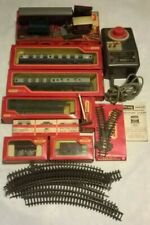 Joblot of vintage battery operated toy train sets - trains, tracks, stations...