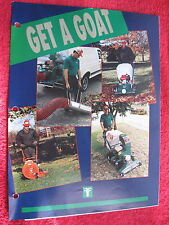 1980s BILLY GOAT KD,LB,QB,BL, HTR, TR, VQ, BG, BT SERIES VACUUM CLEANER BROCHURE