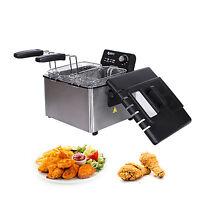 4L Stainless-Steel Deep Fryer Electric Countertop Restaurant 1700W w/Basket