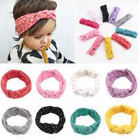 Baby Kids Girl Turban Knot Twist Headband Hair Band Headwear Polka Dot Head Wrap