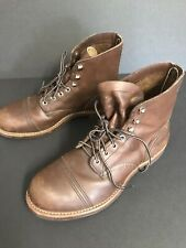 Red Wing Size 9 E2 #8111 Iron Ranger Work Boots Great Pre Owned Condition