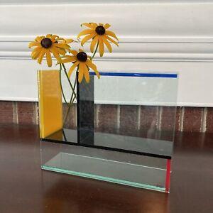 PO: Mondri Vase Design by Frank Kerdil Primary Colors Acrylic MoMA Designs