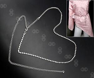 Diamante/Diamond Ladies Women Waist Chain Crystal Rhinestone Charm Long Belt