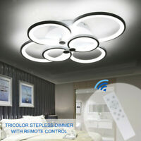 Acrylic Modern LED Ring Lamp Chandelier Ceiling Light Warm Cool Neutral Light
