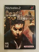 Dead to Rights (Sony PlayStation 2, 2002) COMPLETE BLACK LABEL FREE S/H NAMCO