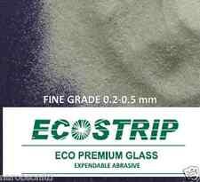 Grano fino de vidrio ecostrip gritblast Chorro De Chorro De Arena Abrasivo De Limpieza 25KG