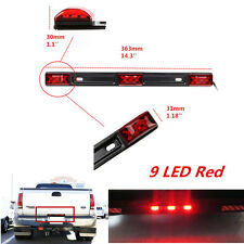 12V 9LED Red Clearance ID Light Bar Tail Lamp Waterproof Sealed Stainless Steel
