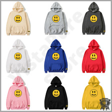 Unisex Jumper Hoodie Sweatshirt Drew House Justin Bieber Happy Face Winter Gift