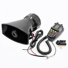 12V Air Horn Siren Megaphone Loud + MIC Speaker 5 Sounds Car Vehicle Truck Van