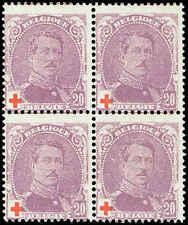 Scott # B27 - 1914 - ' King Albert I ' - Block of 4