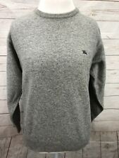 Burberry London Sweater Lambswool Angora Blend Gray Men's Size 4 Long Sleeve