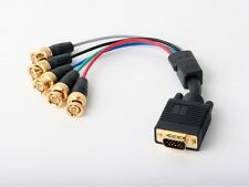 VGA Male to RGBHV Component BNC/RCA Breakout Video Adapter for PC/VHS